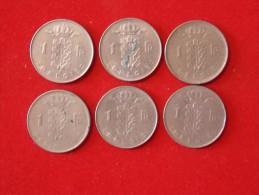 6 Monnaies De Belgique - Non Classificati