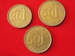 3 Monnaies De Finlande - Finnland