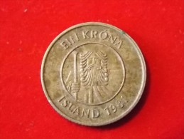 1 Monnaies D Islande 1981 - Islandia