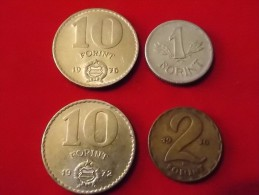4 Monnaies D Hongrie - Hungary