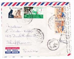 Ägypten -  Flugpost 1965 Zensur Brief Nach Schaffhausen - Poste Aérienne