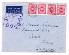 Ägypten -  Flugpost  3.2.1941 Field Post Office Zensur Brief Nach Seale GB - Poste Aérienne