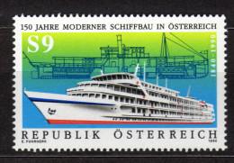 ÖSTERREICH 1990 ** Moderner Schiffbau In Österreich - MNH - Schiffe