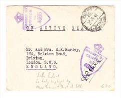 Ägypten - 2.7.1945 Egypt Postage Soldaten Zensur Brief Nach London Mit 3 Blätter Inhalt - Égypte