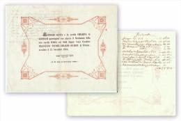 Nozze. Matrimonio Maria Genta Conte Cavaliere Francesco Pecori - Giraldi - Suarez Di Firenze 1854. Partecipazione. - Oude Documenten