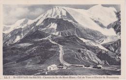 74 - SAINT GERVAIS LES BAINS - VUE DU CHEMIN DE FER Du Mont Blanc  GLACIER DE Bionnassay - Stations With Trains