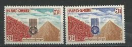 "Cambodge YT 130 & 131 "" Contre La Faim "" 1963 Neuf** - Cambodge"