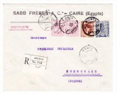 Ägypten - 28.11.1923 Buria Cairo R-Brief Nach Rorschach SG - Égypte