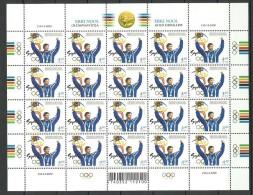 ESTLAND Estonia 2000 Olympic Games Sydney Erki Nool Michel 390 Complete Sheet !! MNH - Summer 2000: Sydney
