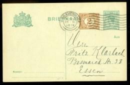 HANDGESCHREVEN BRIEFKAART Uit 1919 Van 's-GRAVENHAGE Naar ESSEN (9837c) - Period 1891-1948 (Wilhelmina)