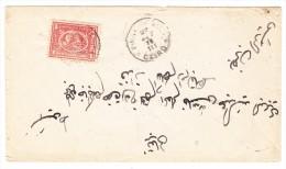 Ägypten - Italienische Post In Cairo 27.9.1875 1 Piastre Rosa Brief Mit Rücks. AK Stempel Siut - Égypte