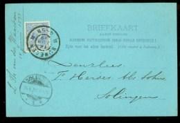 HANDGESCHREVEN BRIEFKAART Uit 1899 Van NIJMEGEN Naar SOLINGEN  (9837i) - Periode 1891-1948 (Wilhelmina)