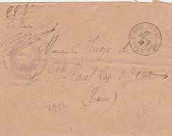 Lettre Franchise Cachet Mairie De VITERBE Tarn Pour ST PAUL CAP DE JOUX 26/8/1922 - Frankreich