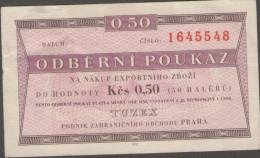 Czechoslovakia TUZEX  0,5 Kcs 1962, Without Date, Without Stamp SCARCE - Tsjechoslowakije