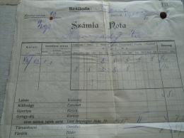 Hungary  Invoice - SIÓFOK Központi Szálloda  1911 - Hunyady úr  + Gyógydíjjegyzék  - Balaton  B164.10 - Autres