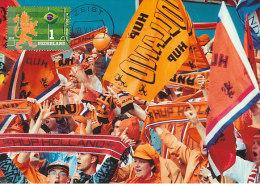 D20891 CARTE MAXIMUM CARD FD 2014 NETHERLANDS - SOCCER WORLD CHAMPIONSHIP - DUTCH LION CP ORIGINAL - Soccer