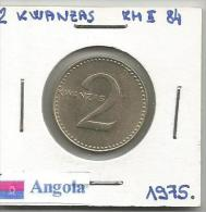 G8 Angola 2 Kwanzas 1975.  KM#84 - Angola
