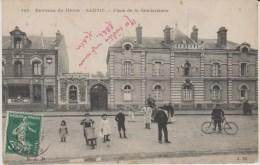 D76 - SANVIC - PLACE DE LA GENDARMERIE (POSTES ET TELEGRAPHES) - France