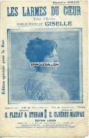 CAF CONC PARTITION GISELLE LES LARMES DU COEUR ETHRAM CLOËREC MAUPAS FLERAY ÉDITION RUE LUCIEN 1913 - Autres