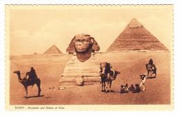AK Ägypten Pyramid Und Sphinx Giseh Ges. 8.12.1927 Cairo Nach Guatemala - Gizeh