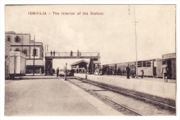 AK Ägypten Ismaila Intérieur De La Gare Photo Damilacos Non Expédiée - Ismaïlia