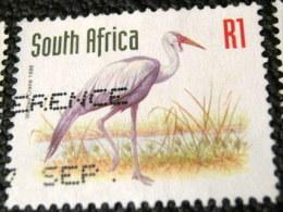 South Africa 1997 Bugeranus Carunculatus Crane Bird 1r - Used - Used Stamps