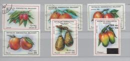 MADAGASCAR 1992 N° 1053/1056 1058  + 1 RARE SURCHARGE NON COTE YT FLORE FRUITS DIVERS - Madagascar (1960-...)