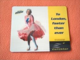 Tapis De Souris Eurostar - Reine D'Angleterre / Marylin Monroe - Neuf - Ref 7322 - Non Classés