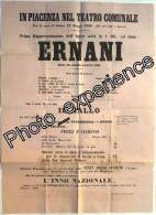 Affiche Op�ra Musicien Compositeur Composer VERDI 1860 PIACENZA Italia Italie Italy