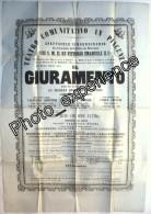 Affiche Op�ra Musicien Compositeur Composer MERCADANTE 1860 PIACENZA Italia Italie Italy