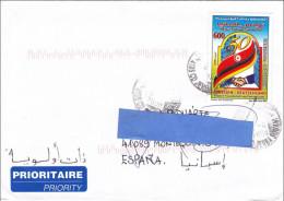 Z] Enveloppe Cover Retour Refund Tunisie Tunisia Flag Drapeau Amitié Friendship Allemagne Germany - Tunisie (1956-...)