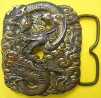 Magnifique Dragon Boucle de ceinture Bergamot brass works belt buckle � nettoyer original qenuine voir scans pour d�tail