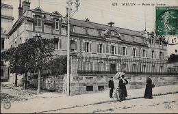 CARTE POSTALE ORIGINALE ANCIENNE : MELUN ; LE PALAIS DE JUSTICE ; ANIMEE ; SEINE ET MARNE (77) - Melun