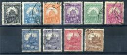 1926 UNGHERIA SERIE COMPLETA USATA (DENT 15 FILIG. E) - Ungheria