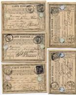 COTES D ARMOR De BROONS 5 CP De 1877  1878 Avec Cachet T 16 Et T18  Sur SAGE N°77 Et 89 - 1877-1920: Periodo Semi Moderno