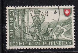 Switzerland Used Scott #B174 5c + 5c Frontier Guard - Usados