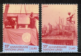 UN GENEVA 2000 MI 391-92 - Neufs