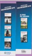 Marque-page  °°  Festival Culturissimo 2015 - Folio  :-.  D Foenkinos ° Les Souvenirs.  6 X 20 - Marque-Pages