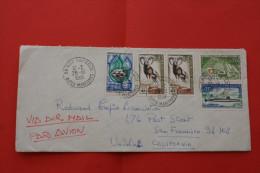 LETTRE De NICE GARIBALDI-> SAN FRANCISCO CALIFORNIE USA >CAD Manuel Affr Composé Tarif étranger  LSE - 1961-....