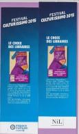 Marque-page  °°  Festival Culturissimo 2015 - Nil  :-.  A Barrows °  Le Secret Des Chaussettes Inusables.  6 X 20 - Lesezeichen