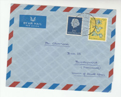 1965 Air Mail NETHERLANDS COVER To SOUTH AFRICA Franked 30+10c Sea Holly FLOWER 35c - Period 1949-1980 (Juliana)