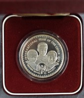 LESOTHO Silver Proof 15 MALOTI COIN 1979 KM#25 Year Of A Child + Box - Lesotho