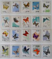 PAPILLONS 1963 - NEUFS ** - YT 1446/65 - MI 689/98 - DENTELES 11 - Unused Stamps