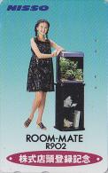 Télécarte Japon - Femme & COQUILLAGE - Girl & SHELL Japan Phonecard - MUSCHEL Telefonkarte - 518 - Advertising