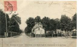 CPA 91 ESSONNES LE ROND POINT DE CHANTEMERLE ET LA RUE FERAY 1906 - Essonnes