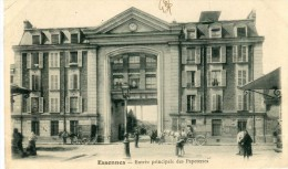 CPA 91 ESSONNES ENTREE PRINCIPALE DES PAPETERIES 1904 - Essonnes