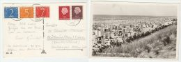 1956 NETHERLANDS Stamps COVER (postcard PHOTO Of NOOORDRICK BEACH, People BATHING HUTS ) - Period 1949-1980 (Juliana)