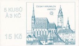 Czech Rep. / Stamps Booklet (1993) 0014 ZS 1 City Cesky Krumlov (church; Castle; UNESCO; Coat Of Arms) (J3703) - Timbres Sur Timbres