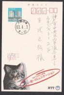 Japan Advertising Postcard, Cat NTT Telephone (jadu1292) - Interi Postali