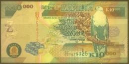 Zambia 10,000 Kwacha Note, P43e, UNC - Zambia